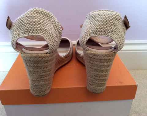Brand New John Lewis Beige & White Stripe Wedge Heel Sandals Size 7.5/41 - Whispers Dress Agency - Womens Sandals - 3