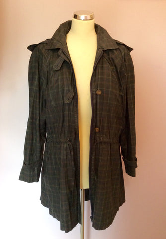 Vintage Jaeger Green Check Cotton Jacket Size S - Whispers Dress Agency - Womens Vintage - 2