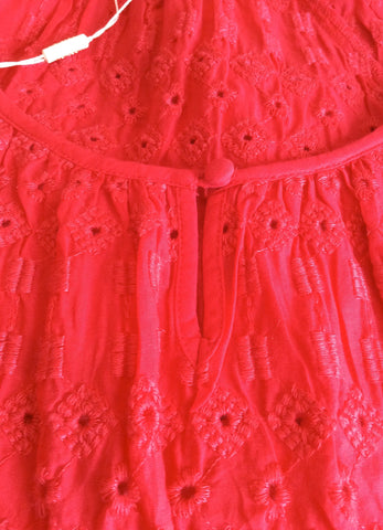 BRAND NEW MONSOON HOT PINK BROIDERY ANGLAISE TOP SIZE 16 - Whispers Dress Agency - Womens Tops - 3