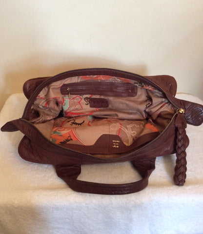 ... Bulga De Beer Brown Leather Tote Bag - Whispers Dress Agency - Handbags  - 7 ... 8202f155a9d88