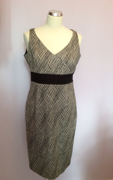 Coast Black & White Print Pencil Dress Size 12 - Whispers Dress Agency - Womens Dresses - 1