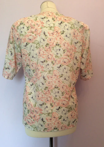 Vintage Jaeger Pale Pink, Blue & Green Floral Print Blouse & Skirt Size 10 - Whispers Dress Agency - Womens Vintage - 3