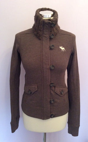 Abercrombie & Fitch Brown Zip & Button Fasten Cardigan Size S - Whispers Dress Agency - Womens Activewear - 1