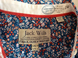 Jack Wills Blue Floral Print Cotton Shrunken Boy Fit Shirt Size 10 - Whispers Dress Agency - Sold - 3