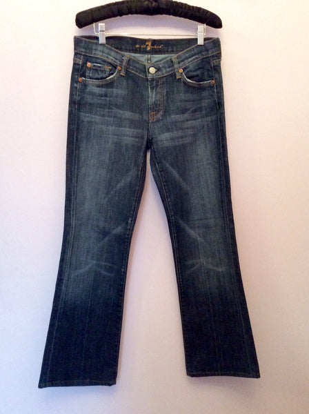 7 For All Mankind Blue Bootcut Jeans Size 29W, 31L - Whispers Dress Agency - Sold - 1