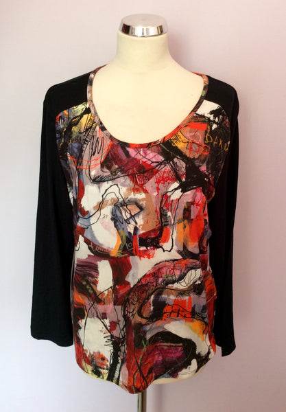 Adventures Des Toiles Multi Coloured Print Top Size 46 UK 18 - Whispers Dress Agency - Sold - 1