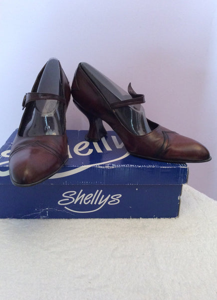 Shellys Dark Brown Antik Leather Dolly Shoes Size 7/41 - Whispers Dress Agency - Sold - 1