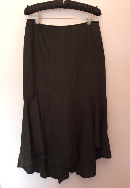 Penny Black Linen Calf Length Black Skirt Size 10 - Whispers Dress Agency - Womens Skirts - 1