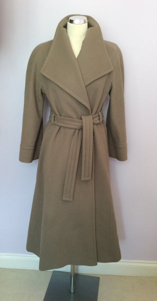 Vintage Jaeger Light Brown 100% Wool Coat Size 10 - Whispers Dress Agency - Sold - 1