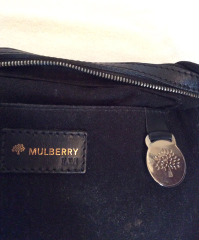 Mulberry Black Canvas & Leather Small Shoulder Bag - Whispers Dress Agency - Sold - 5