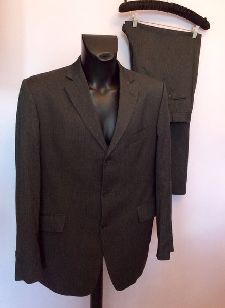 Moss Dark Grey Suit Size 42L/36W/32L - Whispers Dress Agency - Mens Suits & Tailoring - 1