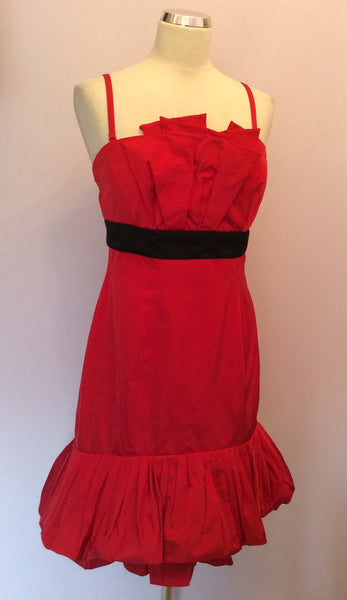 Karen Millen Red Strappy / Strapless Dress Size 12 - Whispers Dress Agency - Womens Dresses - 1