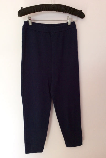 Vintage Jaeger Dark Blue Knit Leggings Size M - Whispers Dress Agency - Sold