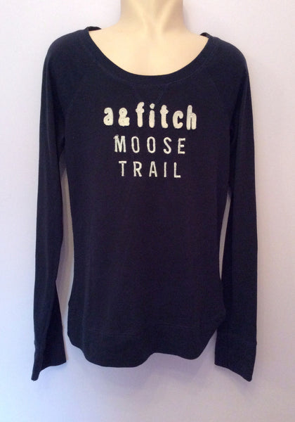 Abercrombie & Fitch Kids Dark Blue Long Sleeve Top Size L - Whispers Dress Agency - Boys T Shirts & Tops - 1