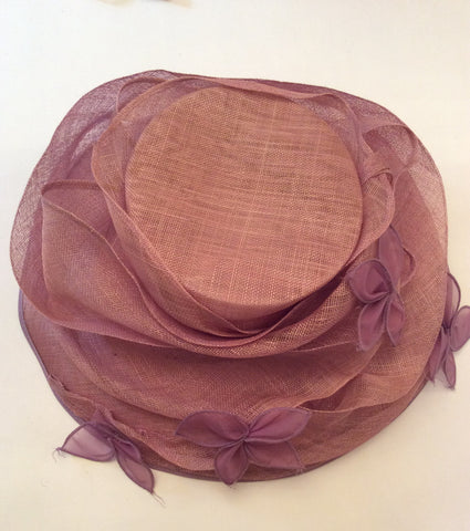 Occasions By Failsworth Millinery Dusky Pink & Lilac Flower Trim Formal Hat - Whispers Dress Agency - Womens Formal Hats & Fascinators - 6