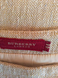 Burberry Natural / Beige Straight Skirt Size 44 UK 12 - Whispers Dress Agency - Sold - 3