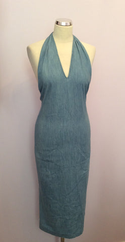 Joseph Light Blue Denim Halterneck Top Dress Size S - Whispers Dress Agency - Sold - 1