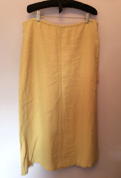 Max Mara Weekend Cream Linen Long Skirt Size 12 - Whispers Dress Agency - Sold - 1