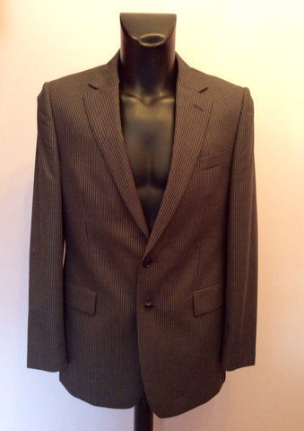 Brand New Jaeger Grey Pinstripe 'Mayfair' Wool Suit Jacket Size 40R - Whispers Dress Agency - Mens Suits & Tailoring - 1