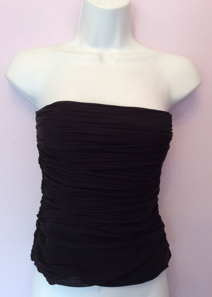 Coast Black Silk Pleated Bustier Top Size 10 - Whispers Dress Agency - Sold