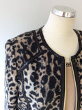 BASLER ANNIVERSARY EDITION CAMEL & BLACK LEOPARD PRINT WOOL JACKET & TOP SIZE 16/18 - Whispers Dress Agency - Sold - 2
