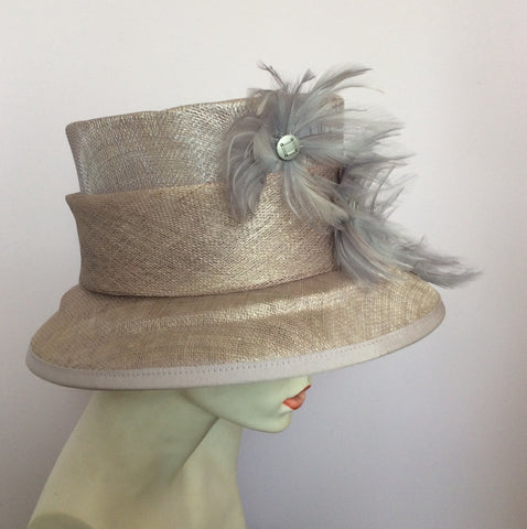 Alicia Boom Pale Lilac / Mauve Feather Trim Formal Hat - Whispers Dress Agency - Womens Formal Hats & Fascinators - 2