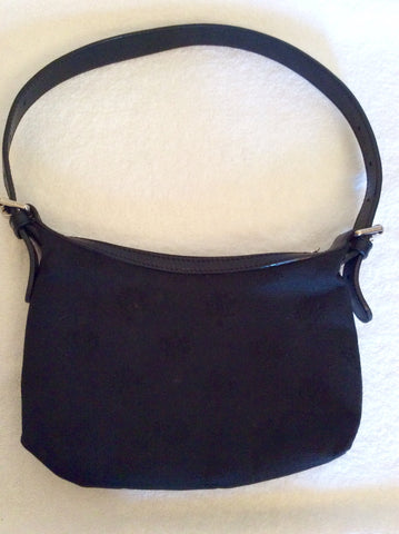 Mulberry Black Canvas & Leather Small Shoulder Bag - Whispers Dress Agency - Sold - 1