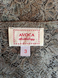 Avoca Anthology Olive Green Lace Wrap Around Top & Skirt Size 12/14 - Whispers Dress Agency - Sold - 9