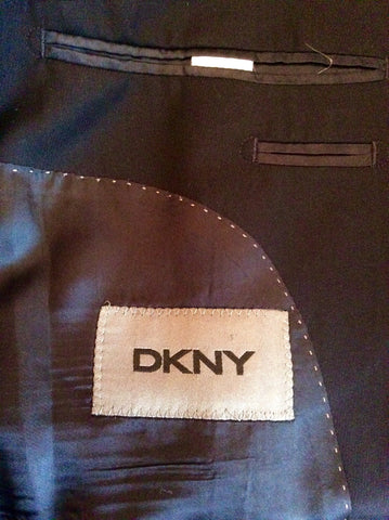 DKNY Dark Blue Wool Blend Suit Jacket Size 36S - Whispers Dress Agency - Mens Suits & Tailoring - 3