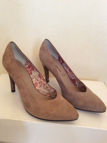 Brand New Tamaris Beige Suede Court Shoes Size 3.5/36 - Whispers Dress Agency - Womens Heels - 2