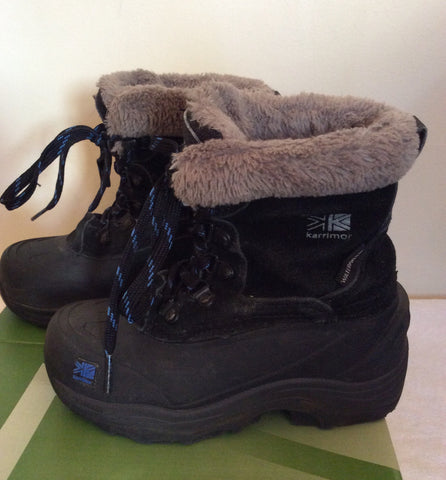 Karrimor Junior Black / Blue Suede Snow / Walking Boots Size 11 - Whispers Dress Agency - Boys Footwear - 3