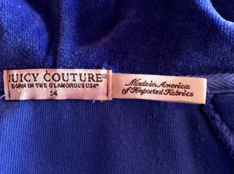 Juicy Couture Purple Velour Hooded Top Size 14 - Whispers Dress Agency - Womens Activewear - 3