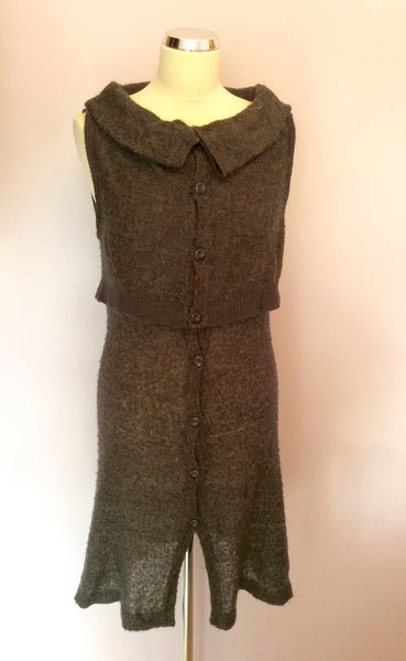 Sandwich Dark Grey Knit Dress Size M - Whispers Dress Agency - Womens Dresses - 1