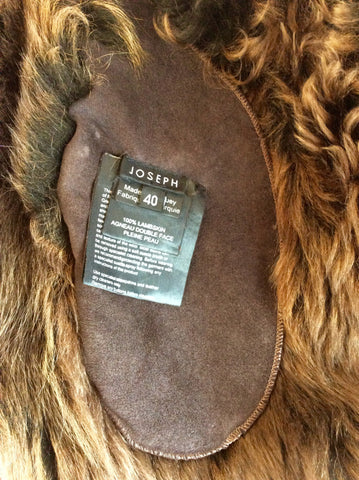 JOSEPH DARK BROWN LAMBSKIN COAT SIZE 40 UK 12 - Whispers Dress Agency - Womens Coats & Jackets - 6