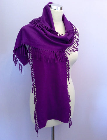 Reiss Purple Fringed Scarf - Whispers Dress Agency - Womens Scarves & Wraps - 1