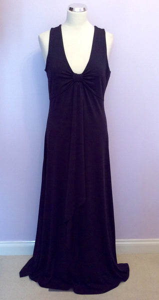 Hobbs Dark Blue Cut Out Back Maxi Dress Size 12 - Whispers Dress Agency - Womens Dresses - 1