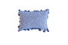 "Handmade Linen Pillow Covers (12""x18"") - Blue & White"