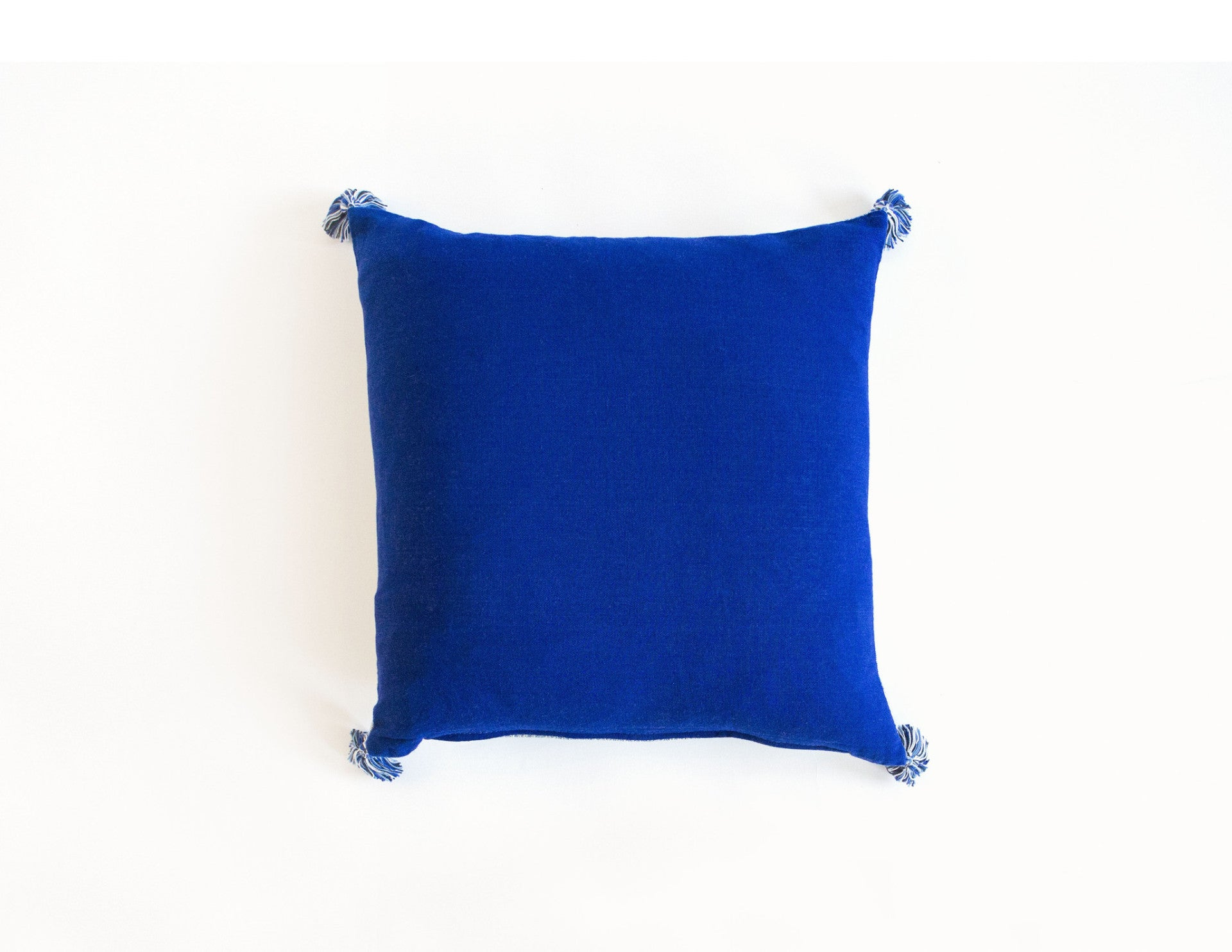 "Handmade Linen Pillow Covers (18""x18"") - Blue"