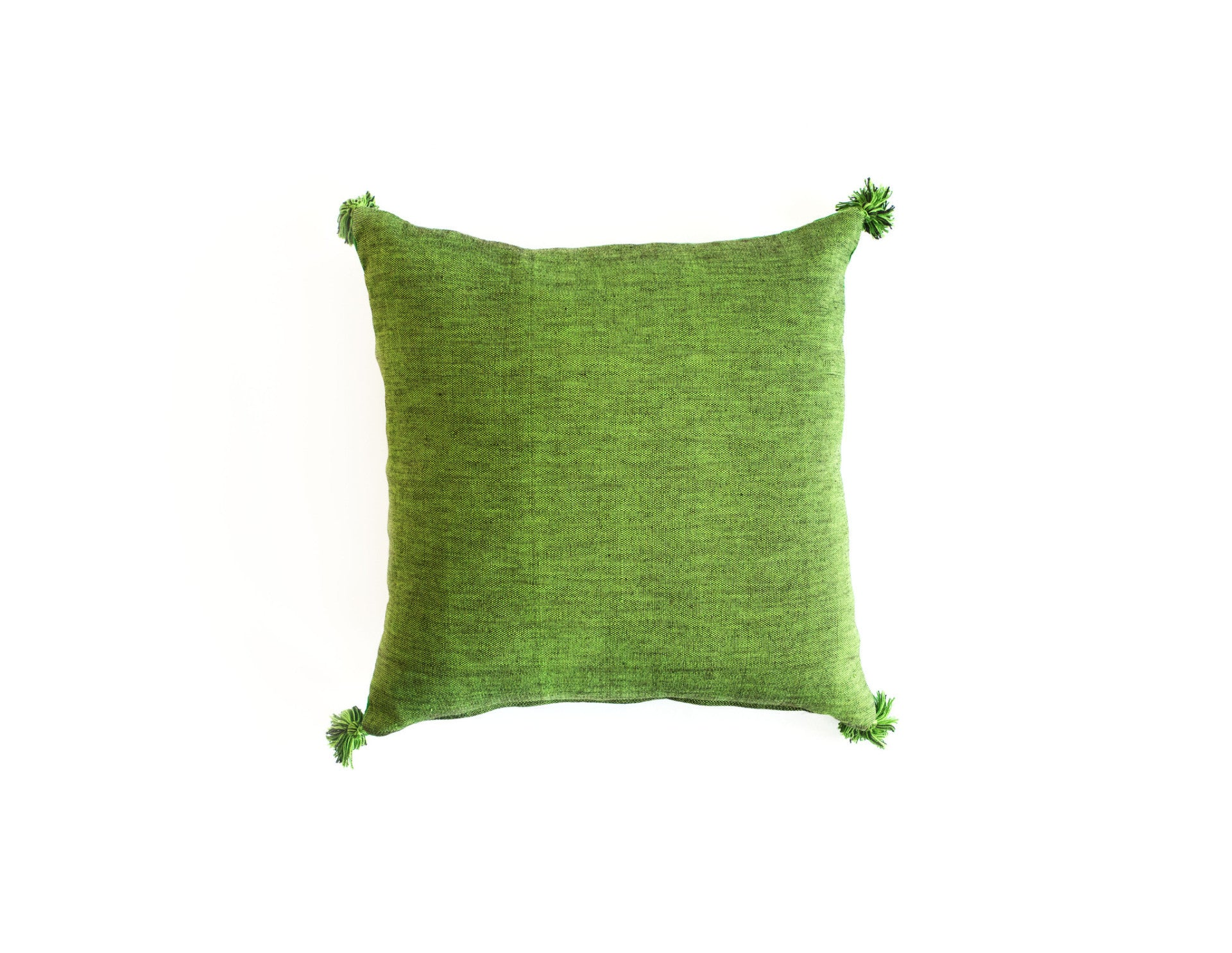"Handmade Linen Pillow Covers (18""x18"") - Green"