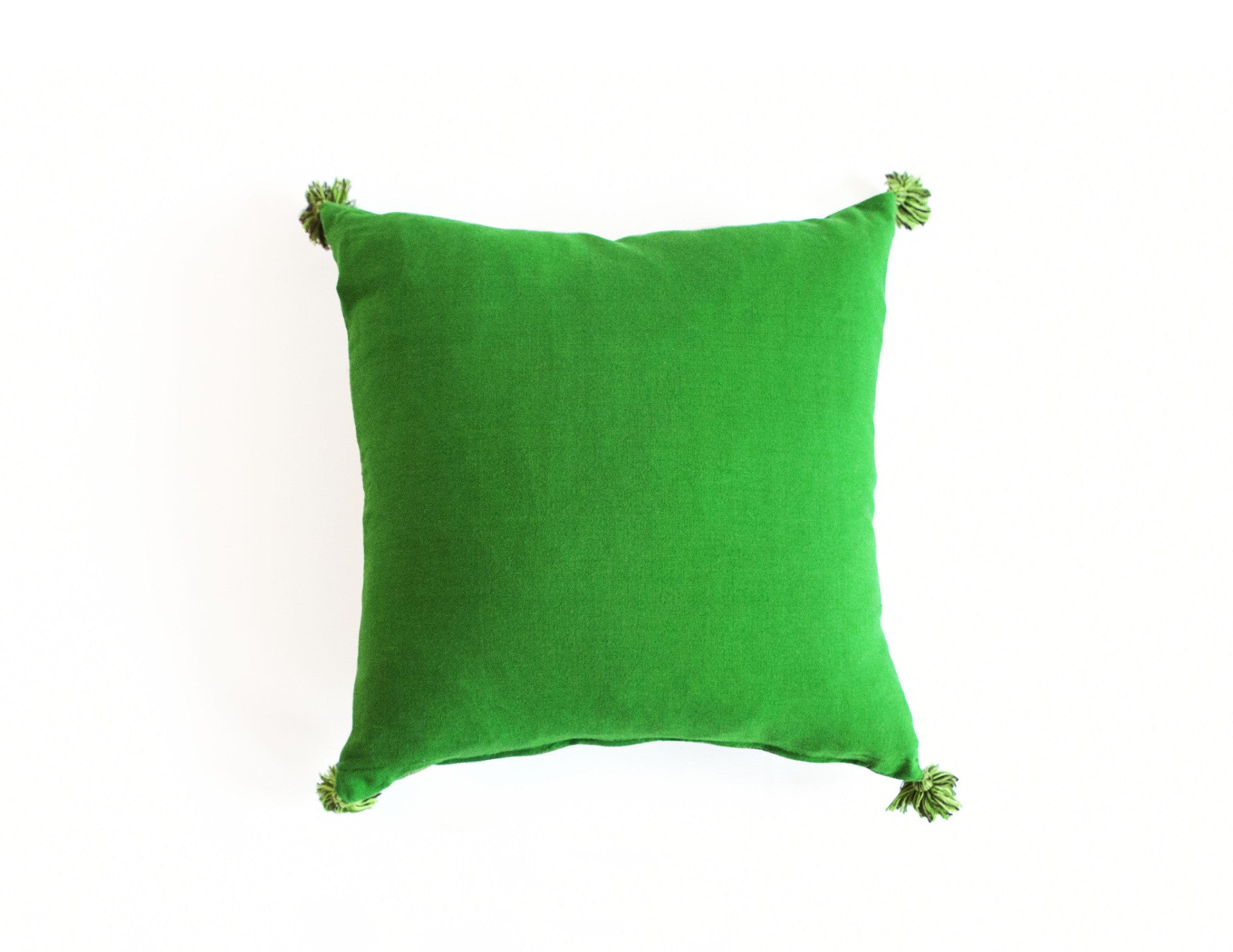 "Handmade Linen Pillow Covers (18""x18"") - Shamrock Green"
