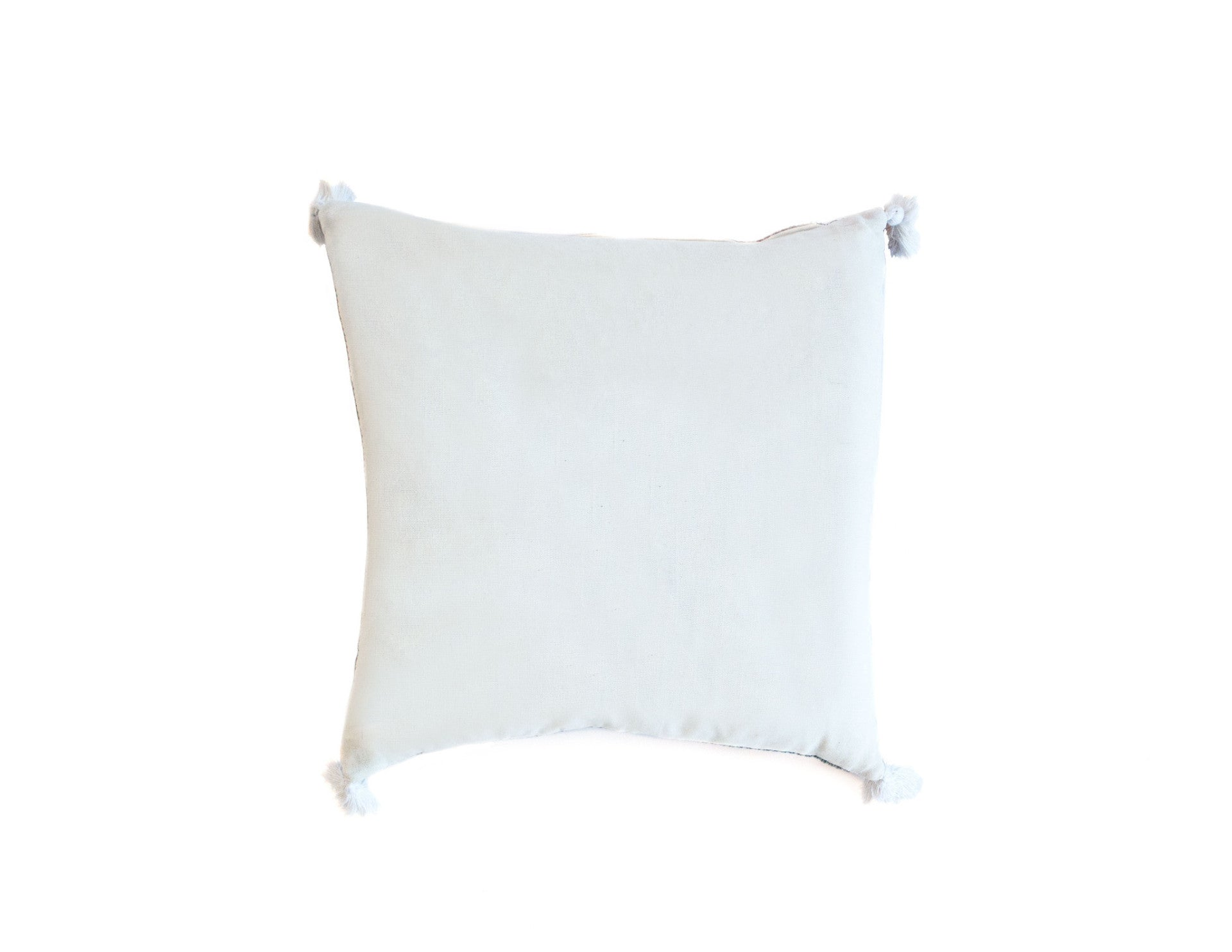 "Handmade Linen Pillow Covers (18""x18"") - White"