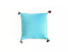 "Handmade Linen Pillow Covers (18""x18"") - Aqua Blue"