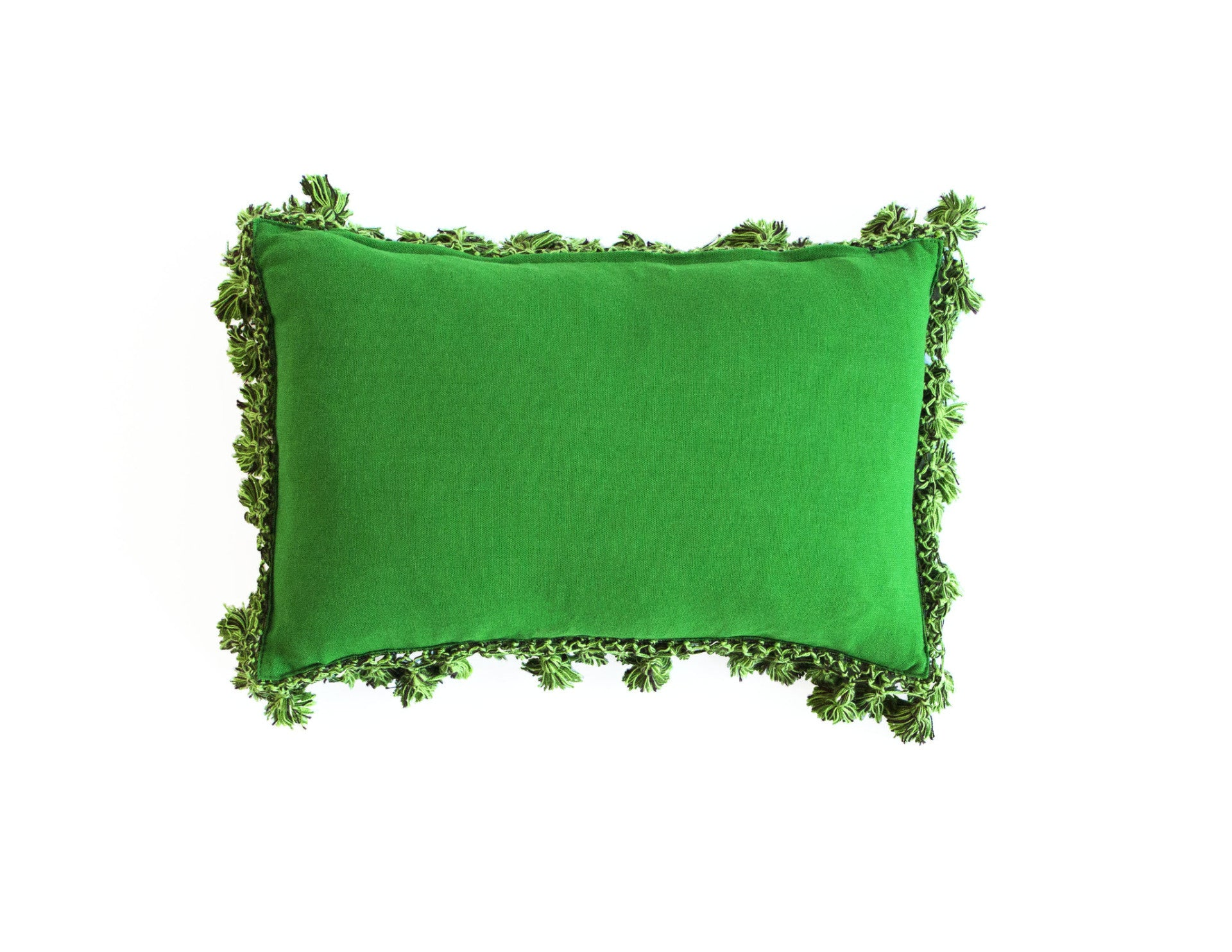 "Handmade Linen Pillow Covers (12""x18"") - Green"
