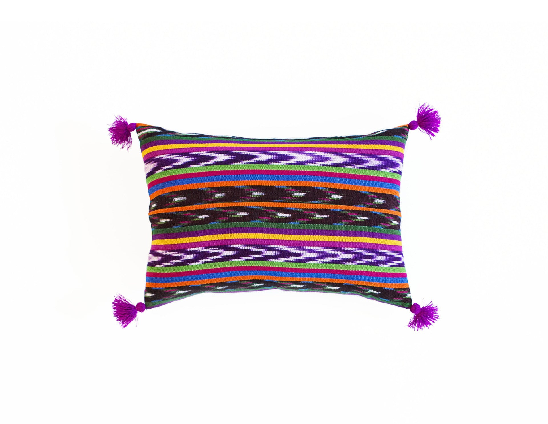 "Handmade Pillow Covers (12""x18"") - Multi Purple"