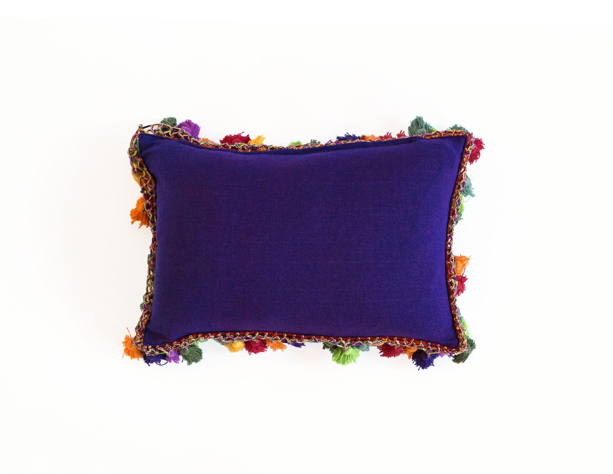 "Handmade Linen Pillow Covers (12""x18"") - Violet"