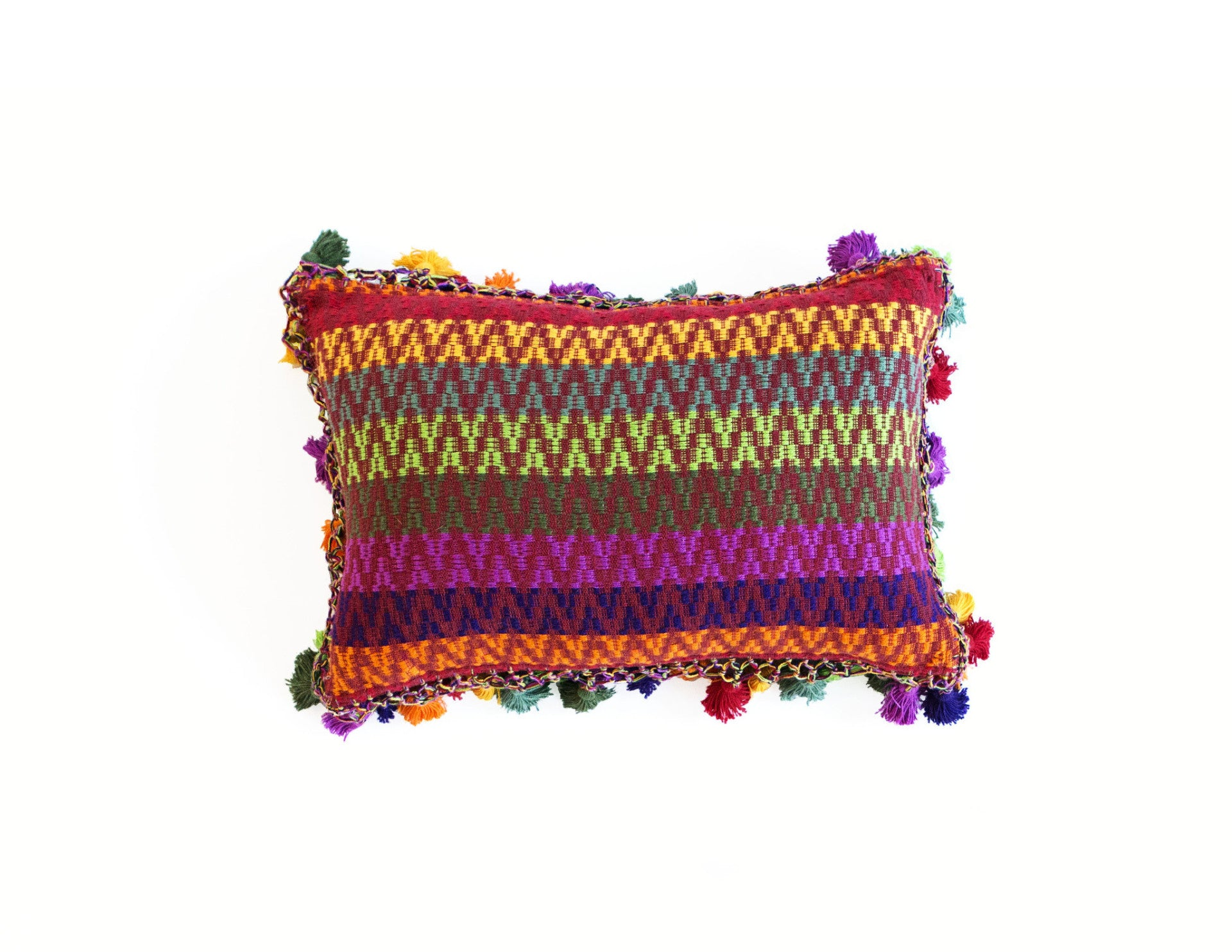"Handmade Linen Pillow Covers (12""x18"") - Multicolored"