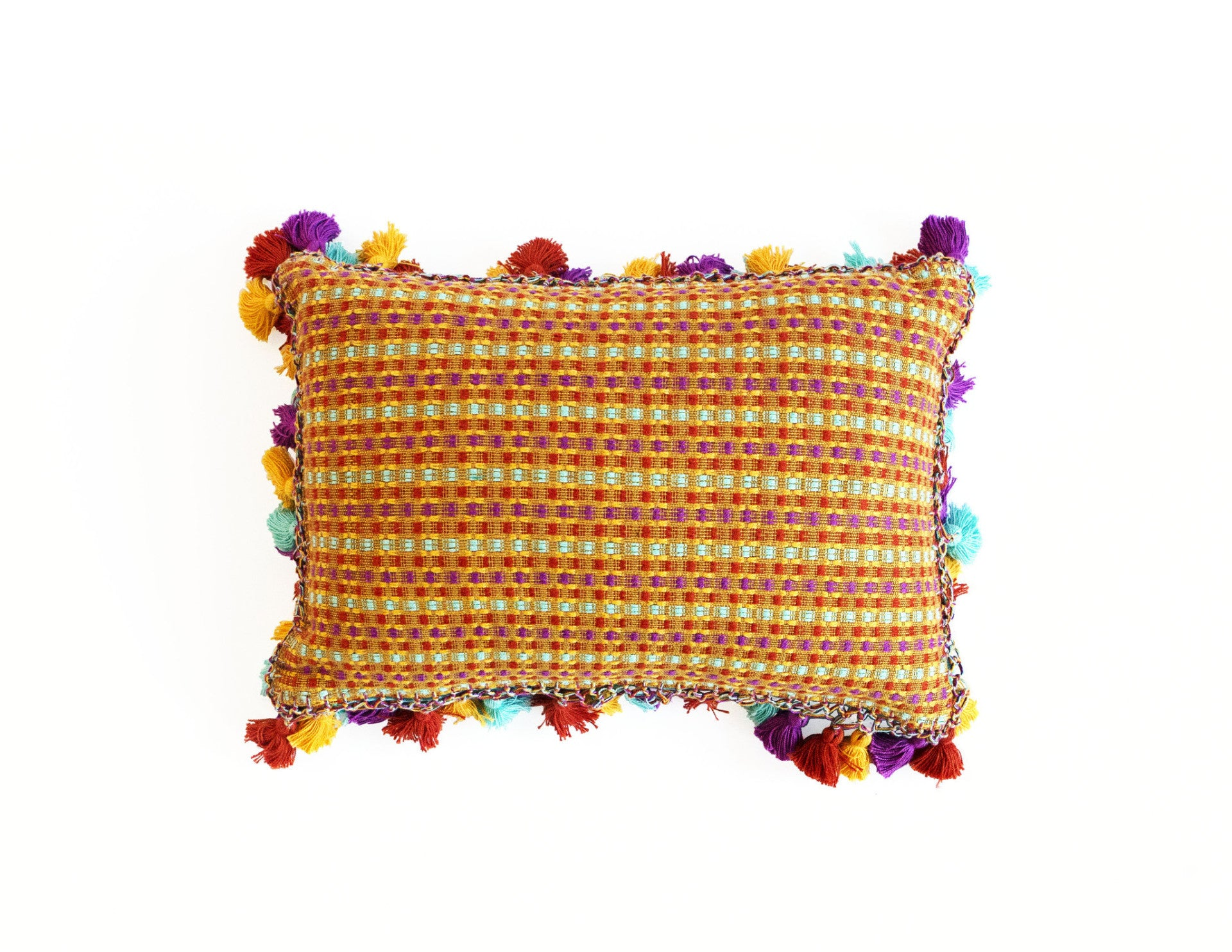 "Handmade Linen Pillow Covers (12""x18"") - Multi Yellow"