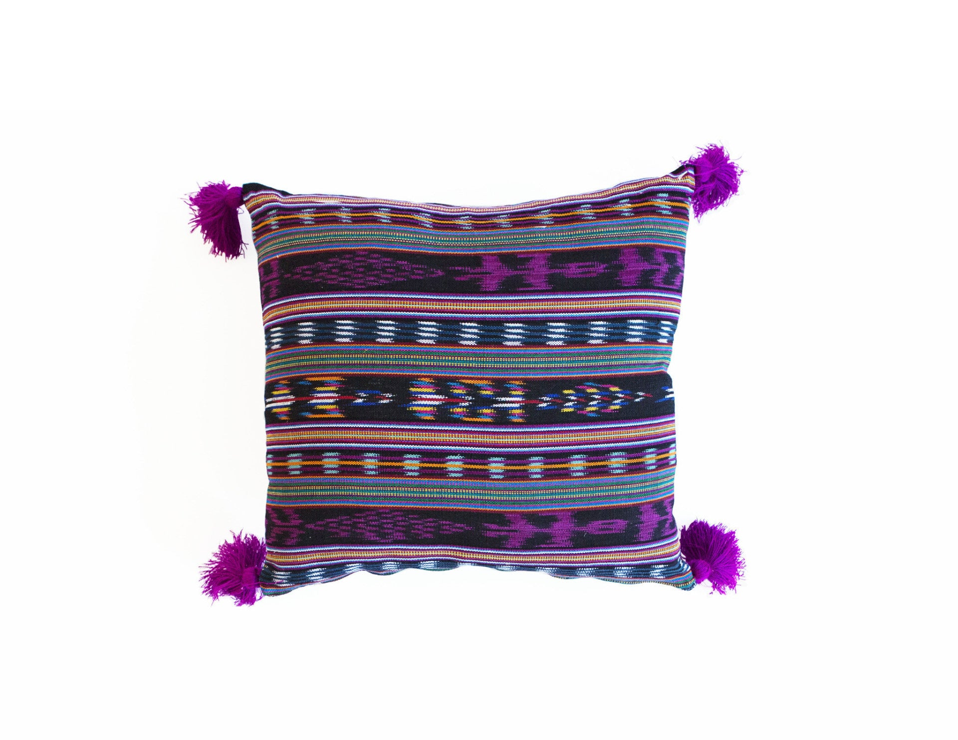 "Handmade Pillow Covers (18""x18"") - Multi Purple"