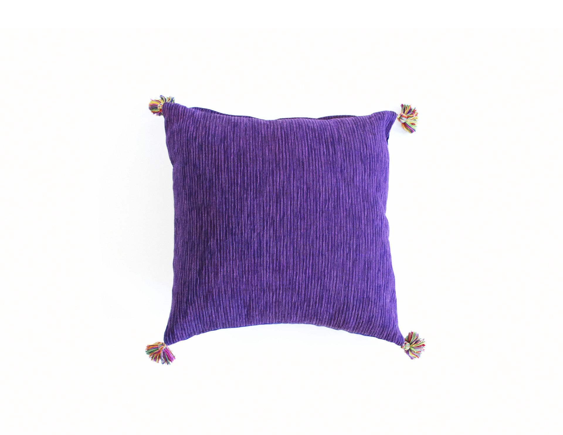 "Handmade Linen Pillow Covers (18""x18"") - Purple"