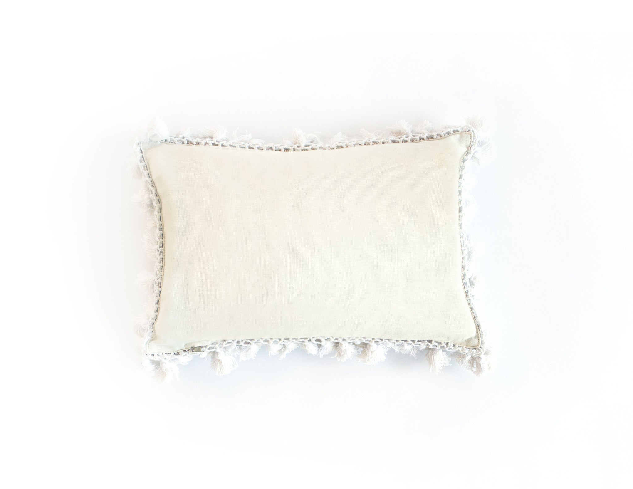 "Handmade Linen Pillow Covers (12""x18"") - White"